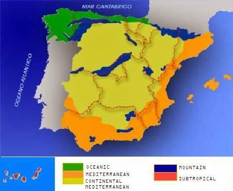 CEIP SAN JOSÉ DE CALASANZ: CLIMATE IN SPAIN
