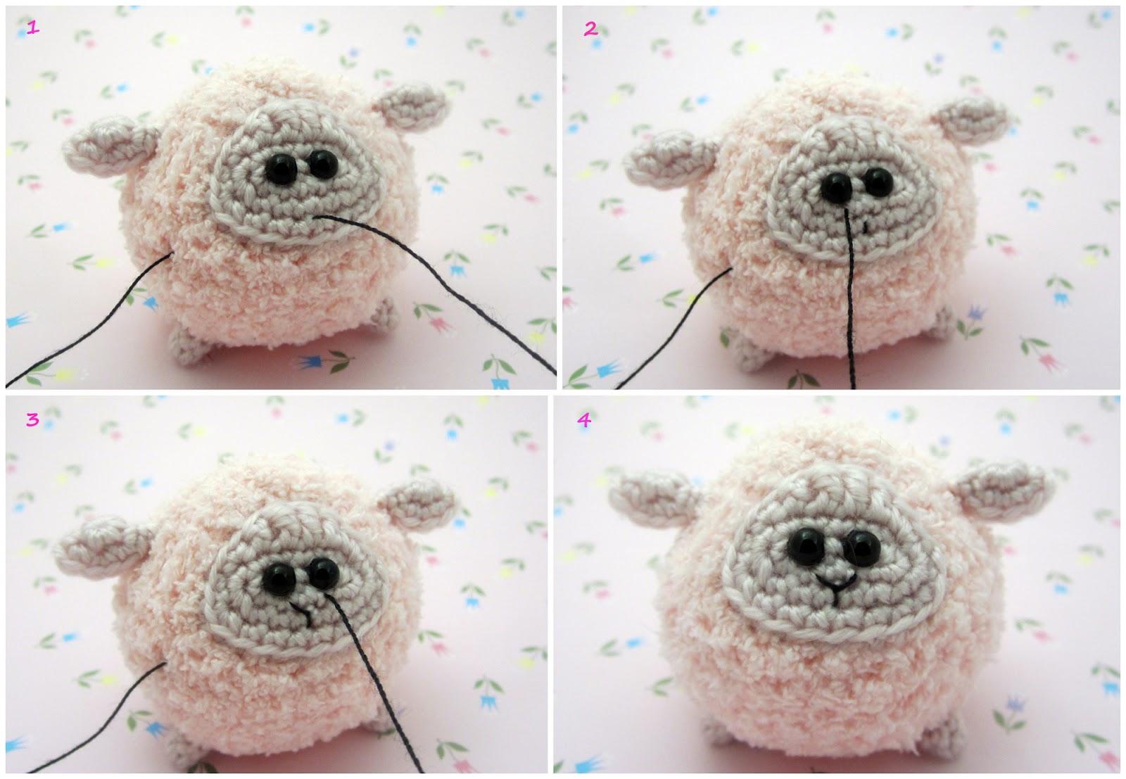 Мастер класс по вязанию овечку крючком 22