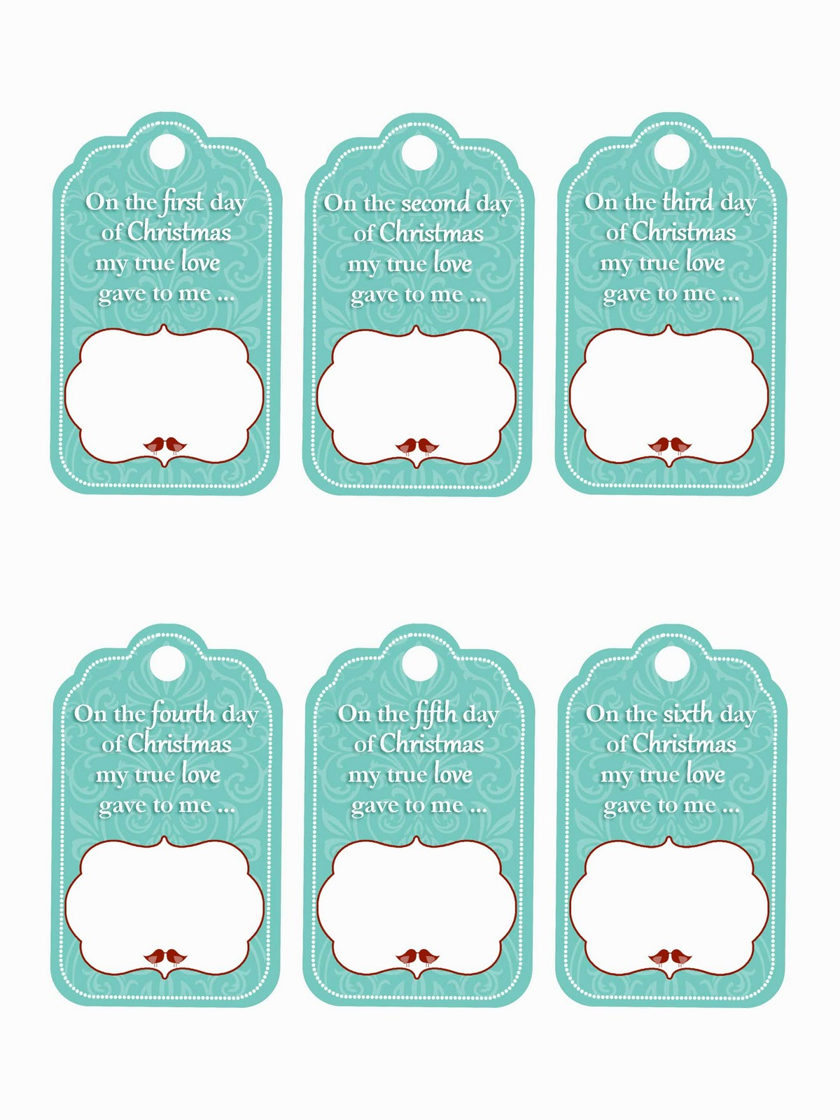 Family Home Fun: 12 Days of Christmas Gift Tag Printables