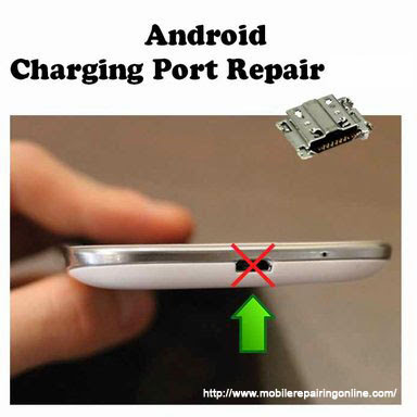 Fixing android phone USB charging port fault