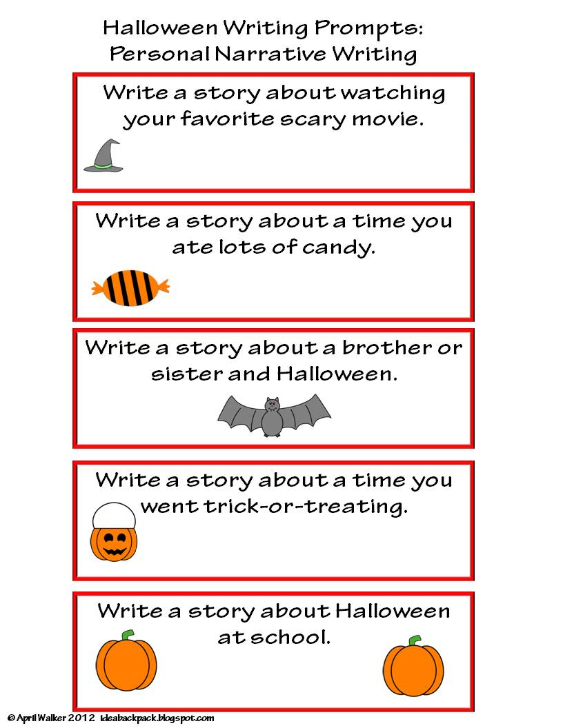 Halloween Writing Prompt 2nd Grade