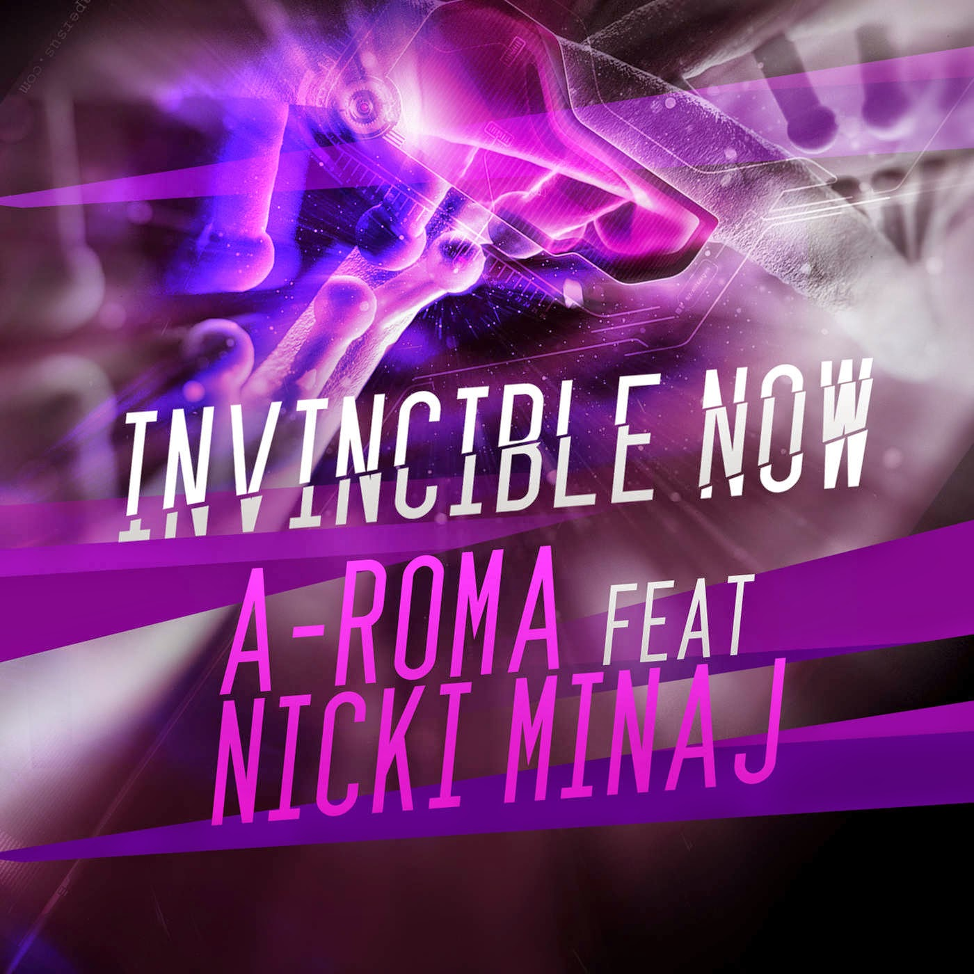 Aroma - Invincible Now (feat. Nicki Minaj & Shawn Lewsi) - Single Cover