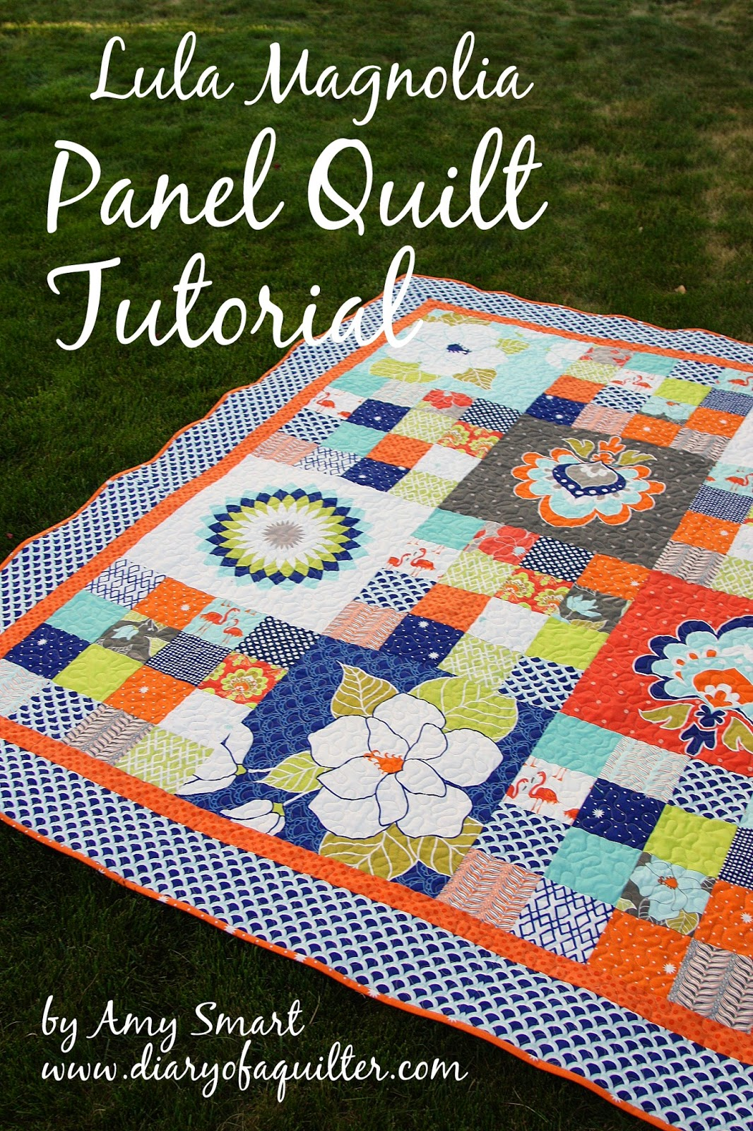 Quilting Panels Quilt Patterns : Project Design Team Wednesday ~ Lula Magnolia Panel Quilt Tutorial Riley Blake Designs