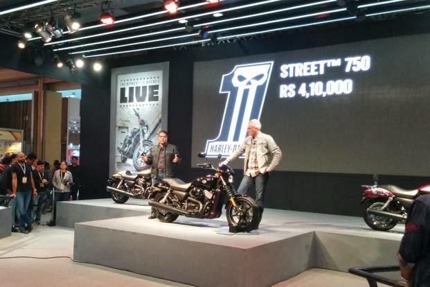 Harley Davidson new street 750 motor bikes starts price Rs. 4,10,000