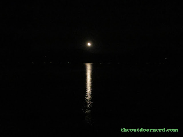 Outlet Campgrounds At Priest Lake, Idaho: Moonlight Over Priest Lake