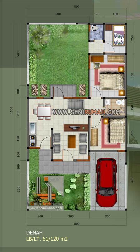 desain rumah type 60 modern minimalis di grand sentul