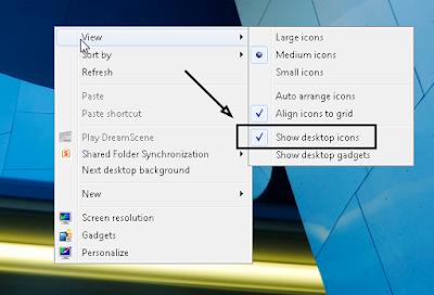 menampilkan icon di desktop