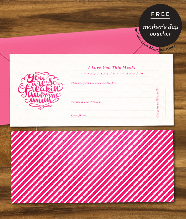 Maiko Nagao Freebie Mothers Day printable gift voucher by Maiko – Printable Vouchers