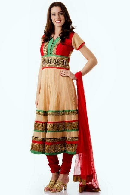 Churidar Salwar with Frock Kameez