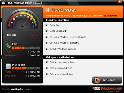FREE Windows Tuner v2.0.1.1 Portable