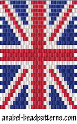 схема британский флаг из
