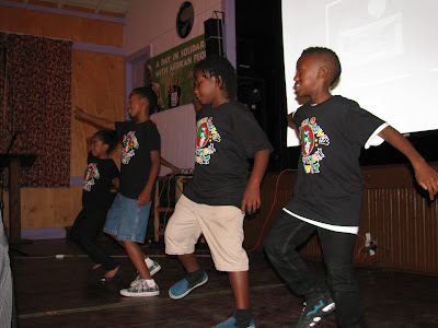 young performers from the Marcus Garvey Upliftment Project