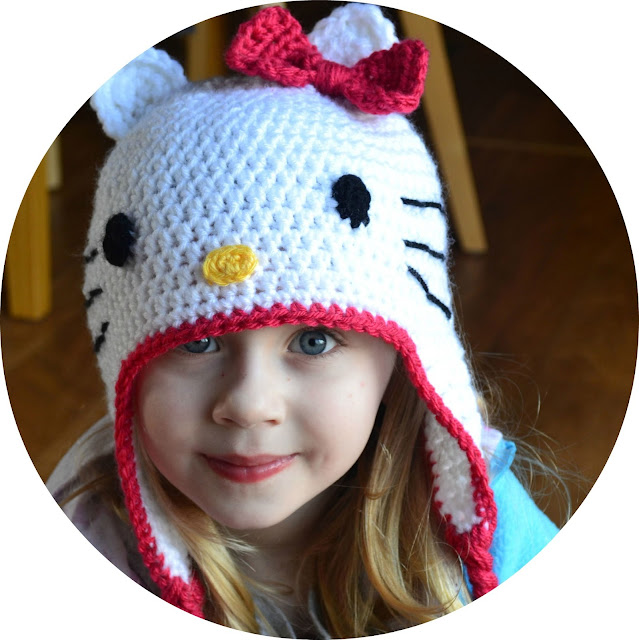 Crochet Kitty Cat Hat Pattern : Crochet in Color: Hello Kitty Hat Pattern
