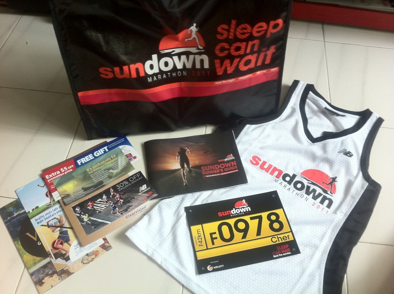 SUNDOWN MARATHON Race Pack