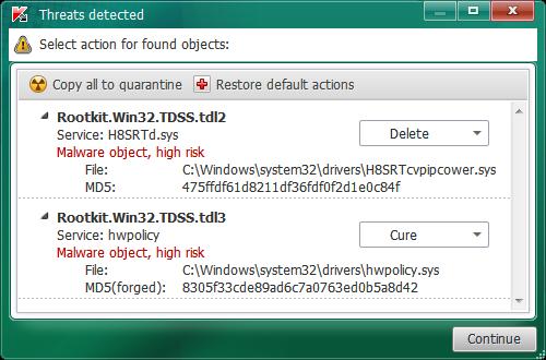 برنامج Kaspersky TDSSKiller 3.0.0.43 - مدونة الحماية
