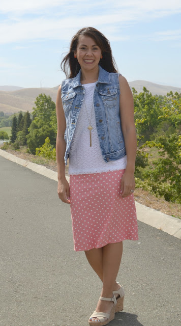 Shabby Apple Pencil Skirt Denim Vest