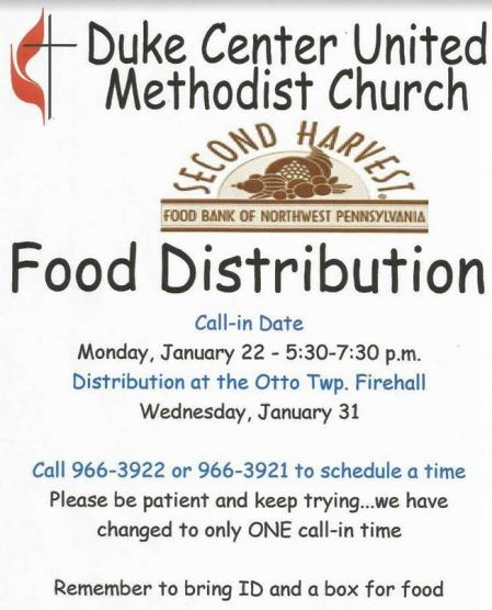 1-31 Duke Center Food Distribution