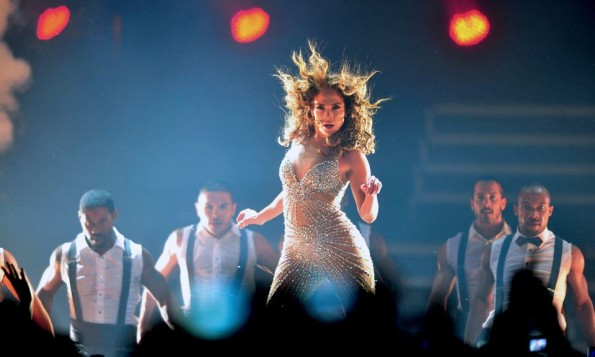 Jennifer Lopez at one of her awesome concerts