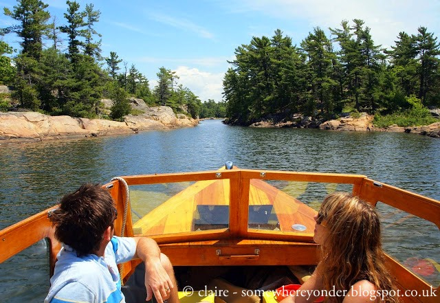 exploring Georgian Bay by boat with my brother and sister in-law