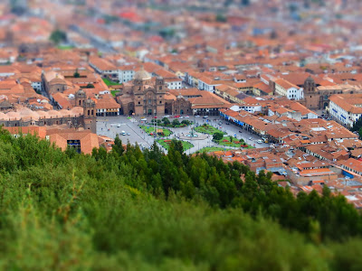 Miniaturized View of Cusco from Sacsayhuman