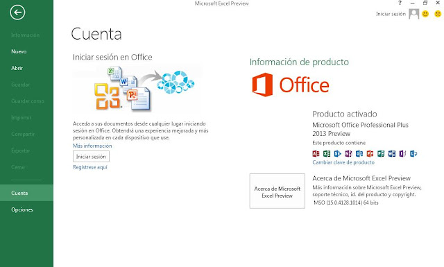 cap4 Microsoft Office Professional Plus 2013 Preview 32 y 64 Bits Español  1 Link
