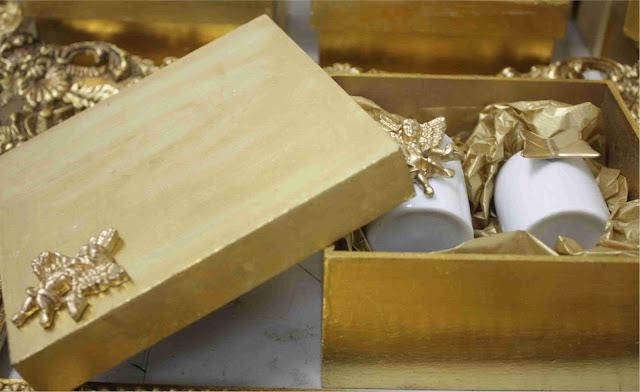 caixa+dourada Lembranças Era Uma Casa