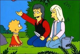 Paul McCartney Desenho Simpsons