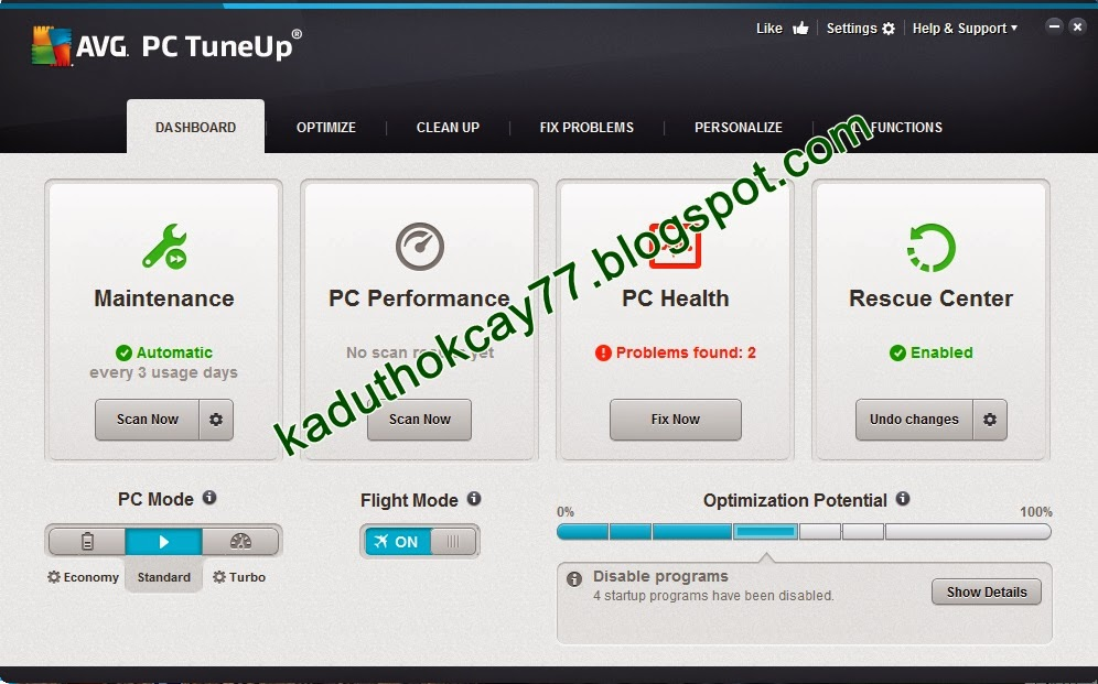 AVG PC Tune Up 2014 v14.0.1001.174 Full Version
