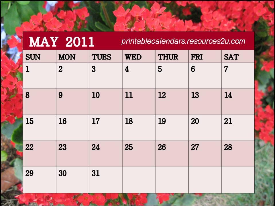 May Calendar Designs : Printable calendars free may calendar design