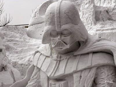 ダースベーダー雪像