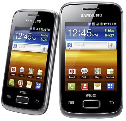 samsung galaxy y duos display
