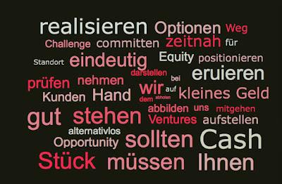 realisieren, Optionen, Weg, Challenge, committen, zeitnah, Standort, eindeutig, Equity, positionieren, ... alternativlos ... kleines Geld
