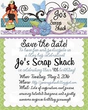 Save the date! Jo's Scrap Shack's Birthday Celebration!