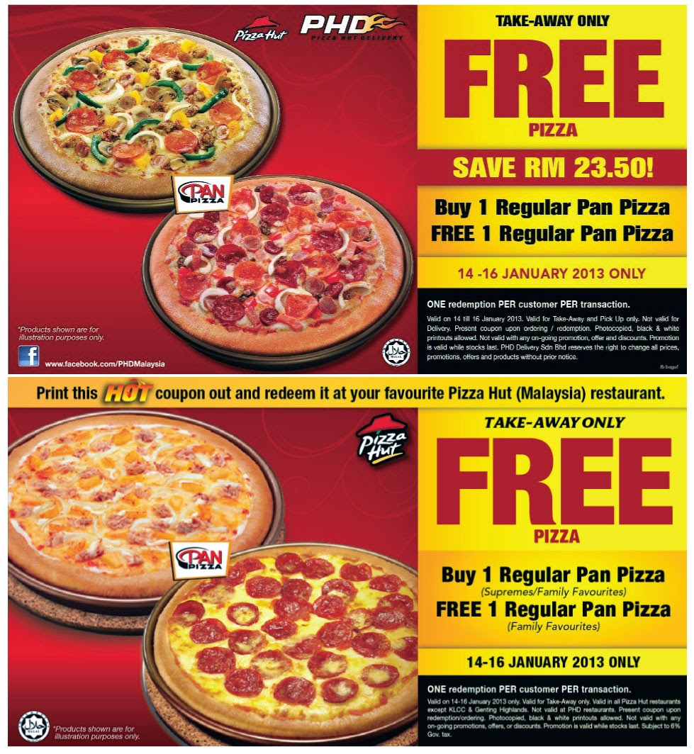 Pizza hut free delivery coupon code