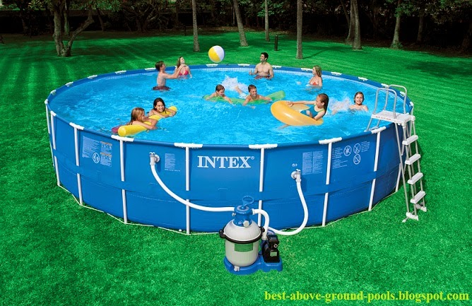 Intex 24 x 52 metal frame cheap pools for sale best and for Cheap above ground pool packages