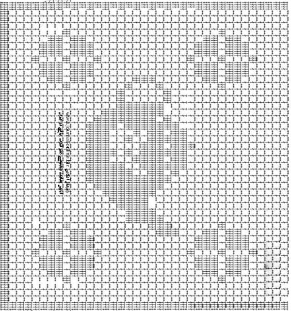 Diagrama tetera para tejer delantal ganchillo filet