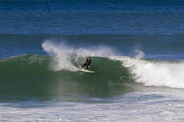 surfer surfing waves at bronte beach sydney australia