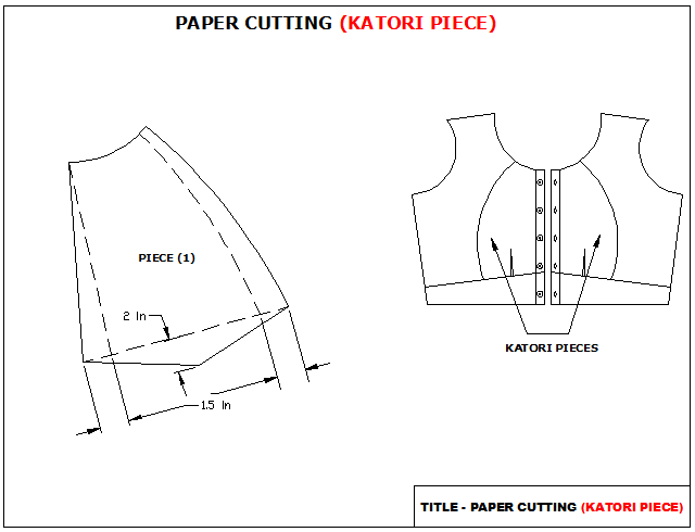 Cutting A Piece Of Paper : Easy stitch how to katori blouse different front