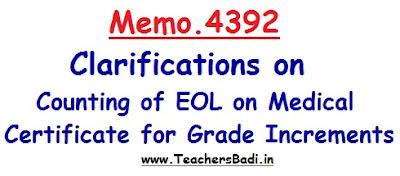 Memo.4392, EOL Clarifications,Medical Certificate