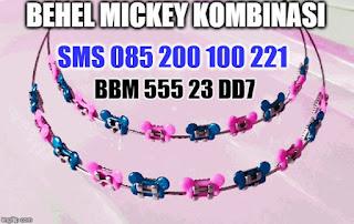 behel mickey pink biru