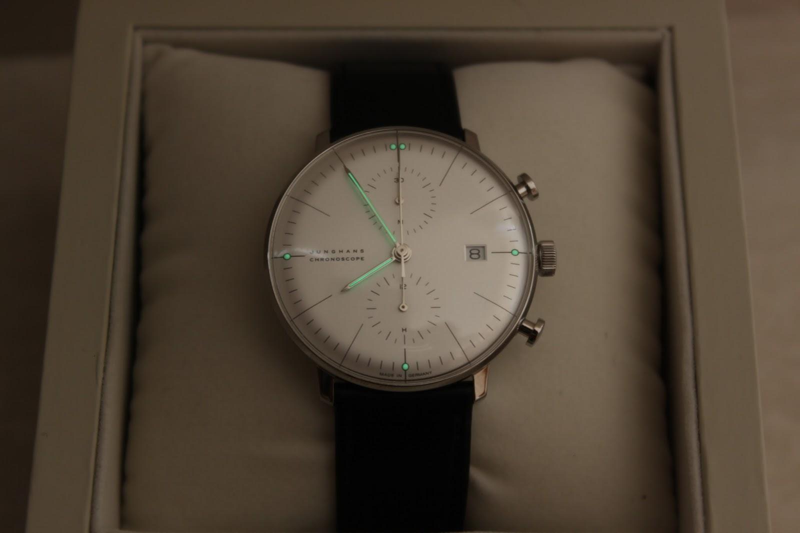jam tangan branded sold bnib junghans max bill chronoscope. Black Bedroom Furniture Sets. Home Design Ideas