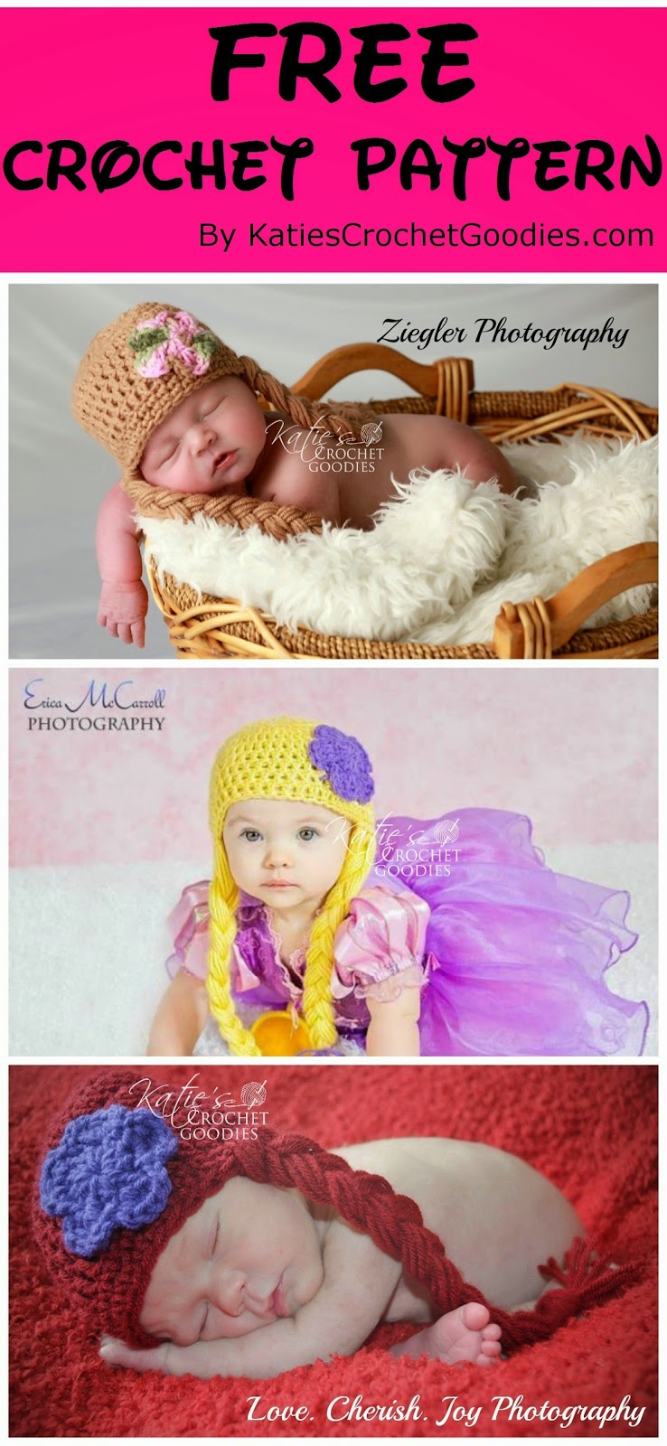 Free Crochet Patterns For Disney Hats : Free Frozen, Rapunzel, Disney Princess Crochet Hat Pattern ...