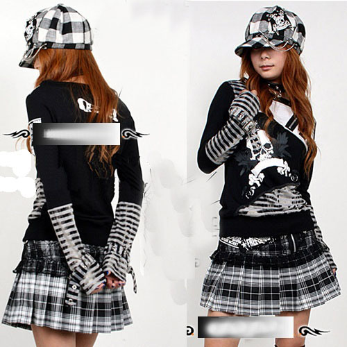 Devilinspired Punk Clothing Plaided Punk Clothes for Women