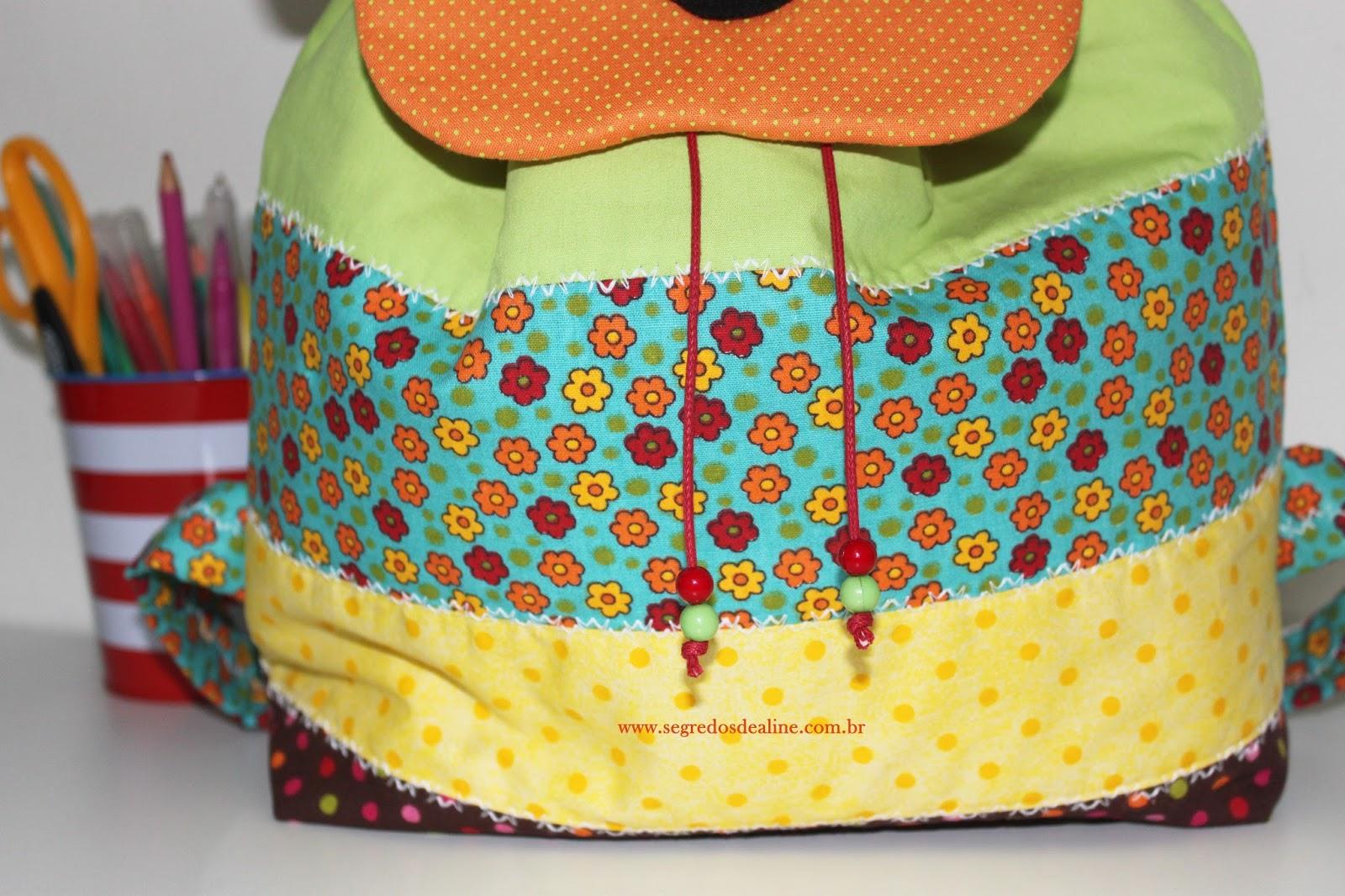 Bolsa Em Tecido Infantil : Segredos de aline mochila infantil patchwork
