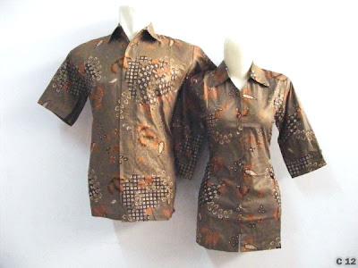 model baju kemeja batik couple terbaru