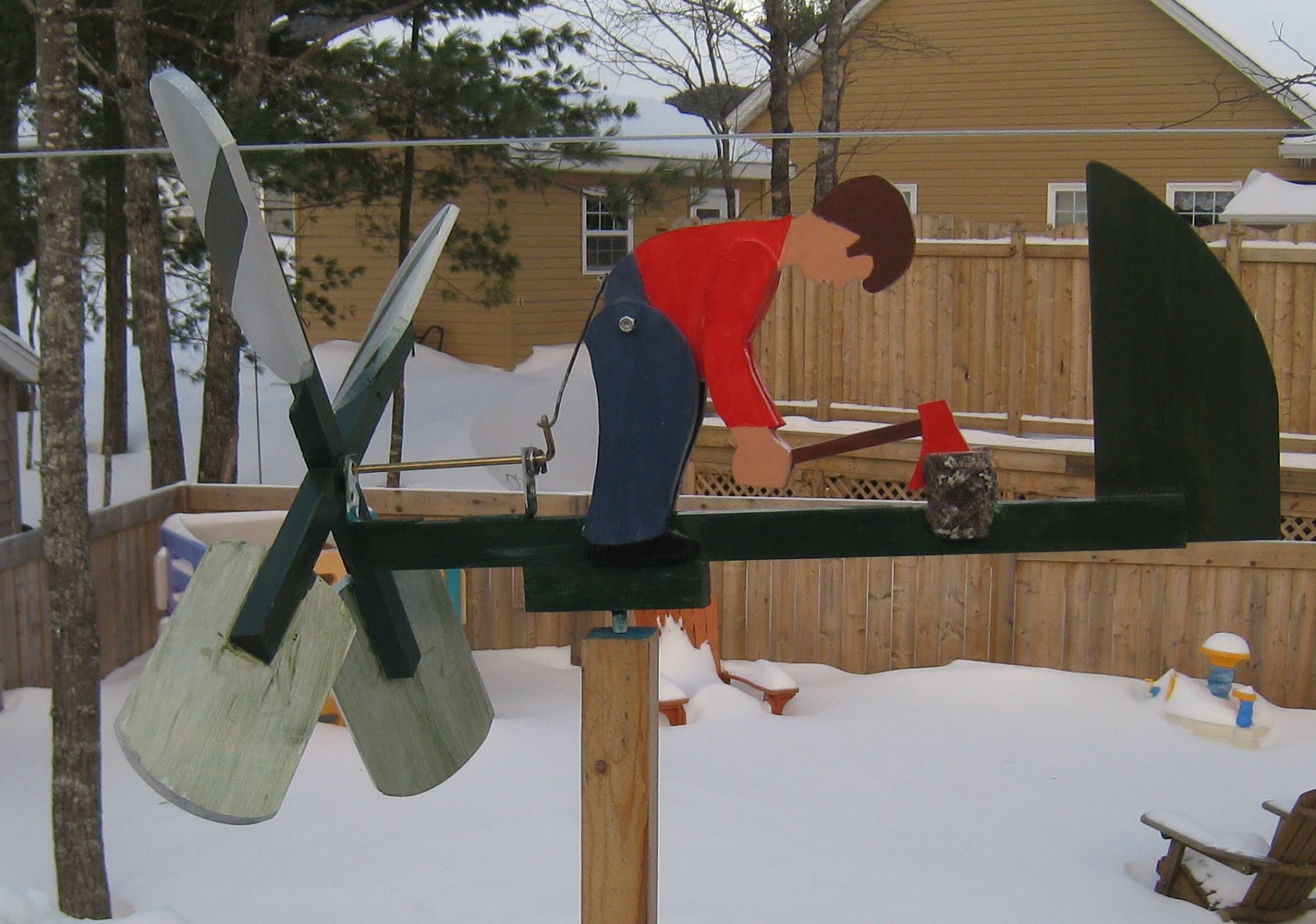 how to build a wooden whirligig