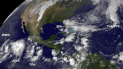 Mächtig etwas los im Nordostpazifik und Atlantik, Philippe, Rina, Kenneth, Jova, Irwin, Atlantik, Pazifik, Satellitenbild Satellitenbilder, aktuell, Oktober, Hurrikansaison 2011, 2011,
