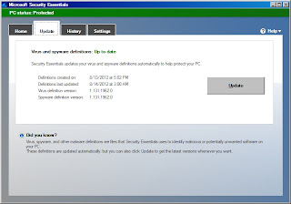 instal Microsoft Security Essentials di windows