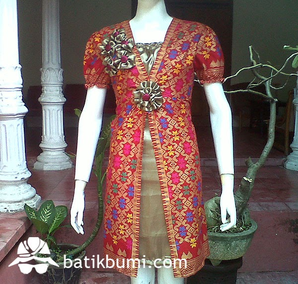dress batik bali prada