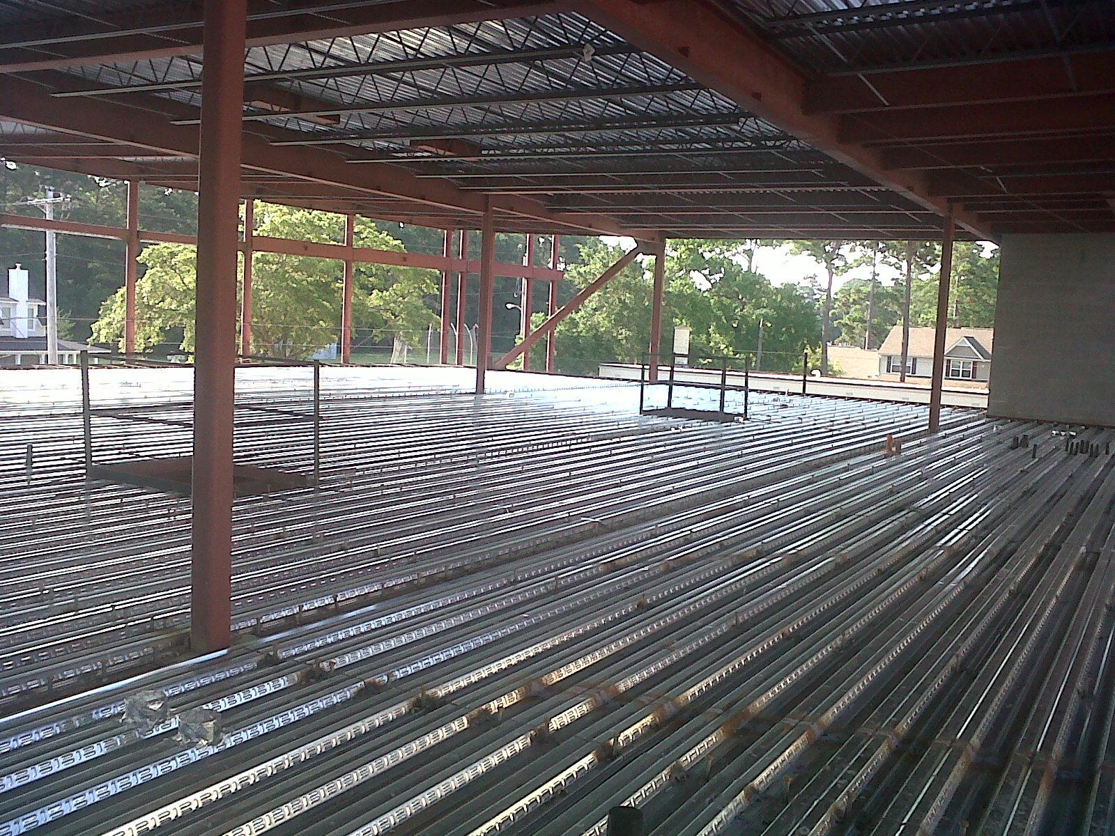 Steel Decking Slab : Sga speir building addition june second floor